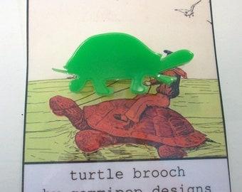 Acrylic Turtle Brooch