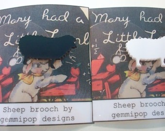 Acrylic Sheep Brooch