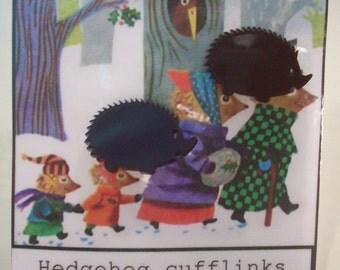 Laser Cut Acrylic Hedgehog Cufflinks