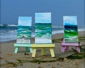 "A Slice of the Beach  Mini (Original painted on location)  2""X4"" includes easel"