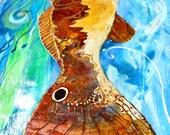 CUSTOM ORDER for deboeckel  Red Drum Fish floorcloth on Etsy