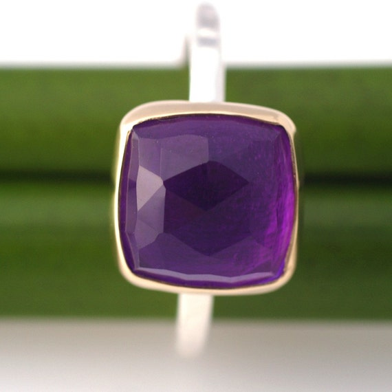 Golden Faceted Amethyst Birch