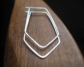 silver earrings. chevron hoop earrings. triangle hoop earrings. hoops. splurge.