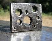 HOLES, Custom Steel Belt Buckle, Random Hole Pattern