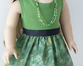 American Girl doll clothes  - dress with knit top, includes belt and necklace