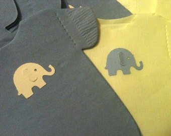 "Pack of 30 any color Baby shower ""shirt"" or ""bib"" shaped napkins or banner decoration.  Each with heart or elephant"