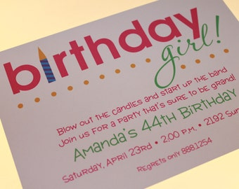 Birthday Girl Invitations