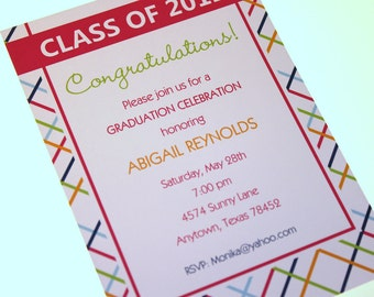 Graduation Party, Announcement Invitation