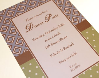Rehearsal Dinner Party Invitations
