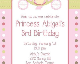 Princess Birthday Invitations, Different Designs