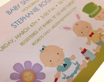 Wonderland Baby Shower Invitations