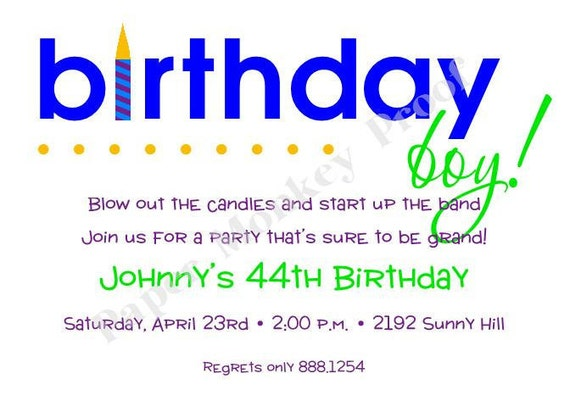 Birthday Boy Invitations