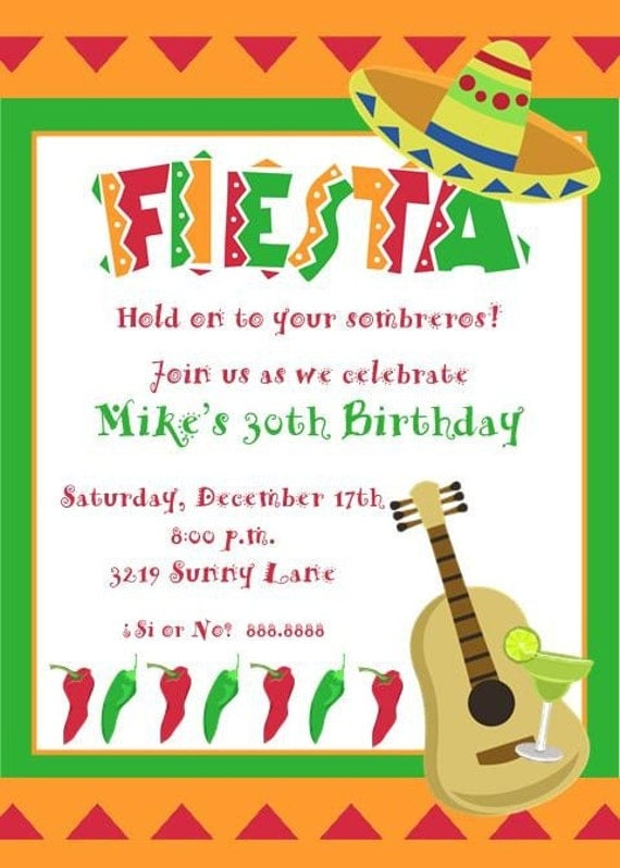 Mexican Party Invites for great invitation design