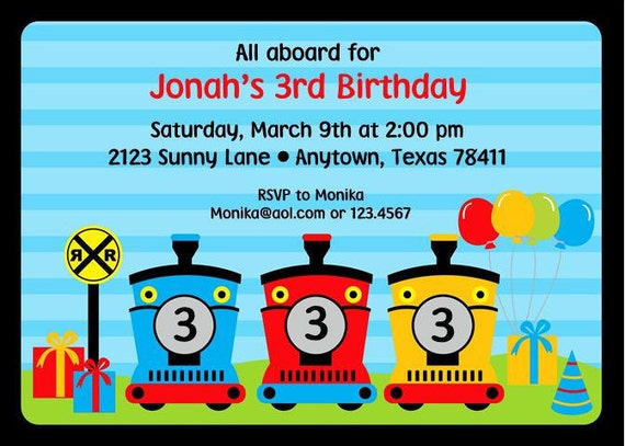 train birthday party invitations by paper monkey company  catch, Party invitations