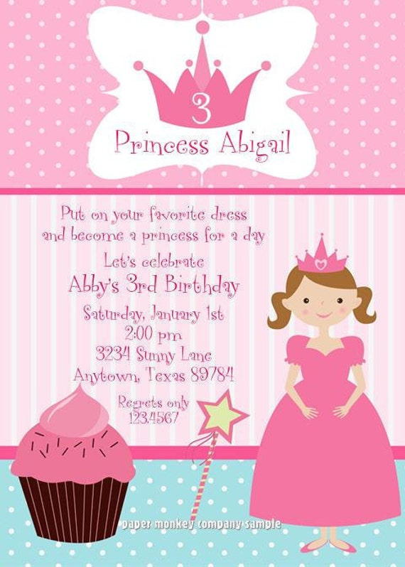 Princess cupcake birthday party invitations by paper monkey company il570xn filmwisefo