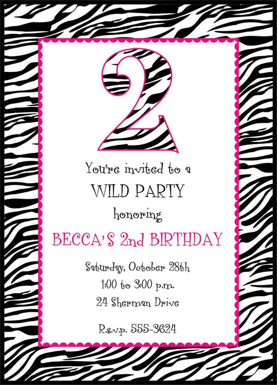 Cebra jirafa o vaca invitaciones de cumpleaños por PMCInvitations