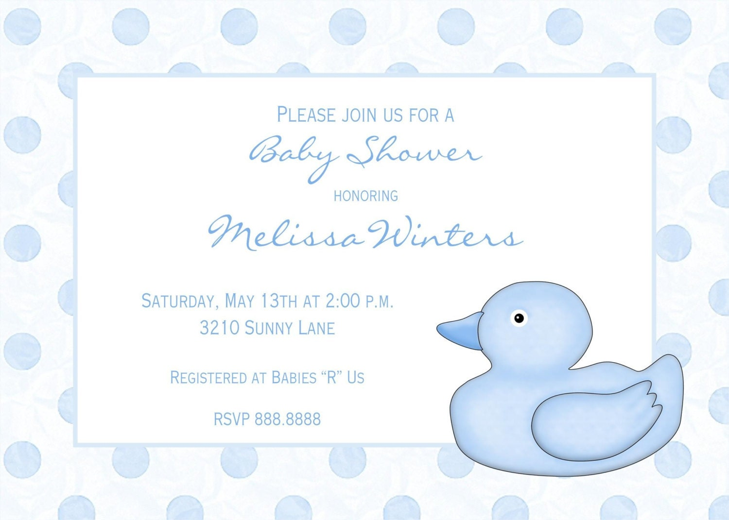rubber ducky baby shower invitations by pmcinvitations on etsy