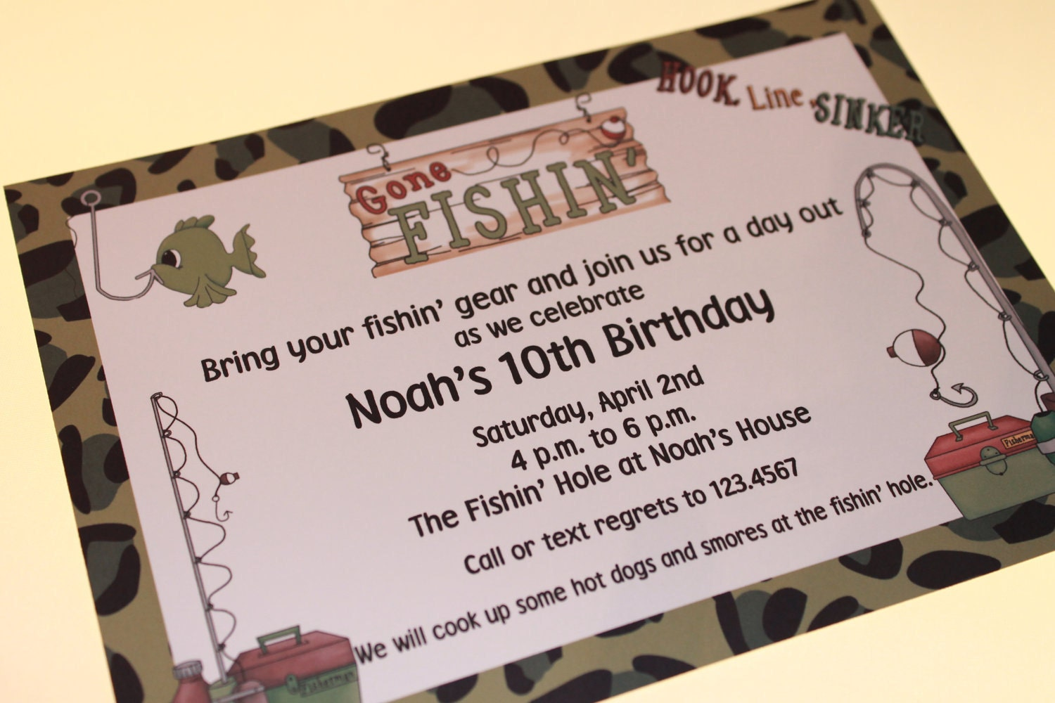 Fishing Birthday Invitations was very inspiring ideas you may choose for invitation ideas