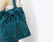 Back To School SALE - 20% OFF QT in Dark Teal / Tote / Shoulder Bag / diaper bag / School bag / laptop / Purses / women / For Her