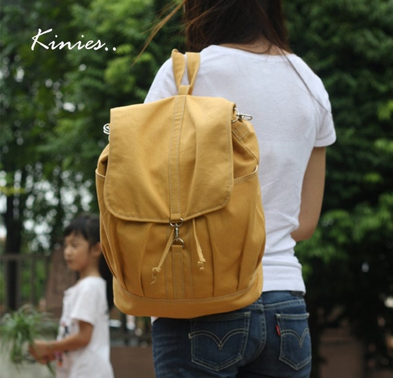Last  - Back Pack Sale with 25% Off - KINIES Back Pack in Golden Rod - Backpack / Cross body Messenger / Shoulder bag