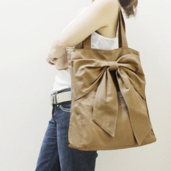 Halloween SALE - 20% OFF QT in Khaki / Tote / Shoulder Bag /  diaper bag / School bag / laptop / Handbags / Purses / women / For Her