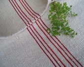 antique FRENCH REd grain sack runner cushion pillow handloomed fabric BIOLOGICAL