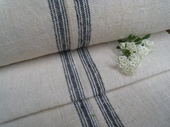 antique hemp linen roll FRENCH INDIGO 8.088y  handloomed upholstery curtain roman blind