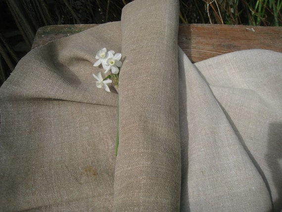 antique handloomed linen roll elegant and classy two toned 6.558y DARK BROWNISH