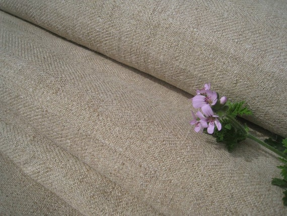 antique handloomed linen roll soft 11.25 y BROWNISH upholstery fabric TWILL WOW 25.19 wide