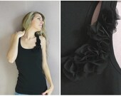 CHANTILLY NOIRE  embellished women tank top  size S, M , L or XL