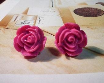 SALE - Lovely Rose Stud Earrings