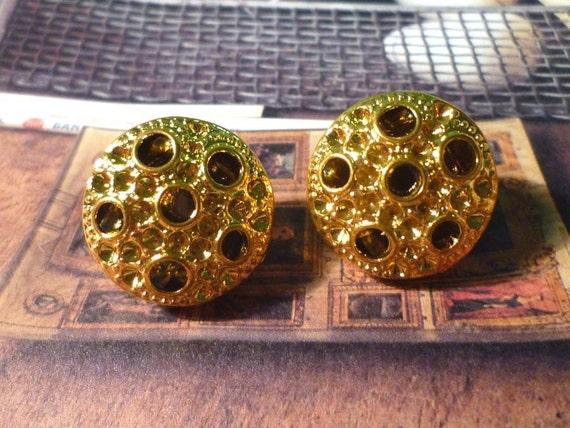 Gold Planet Earrings