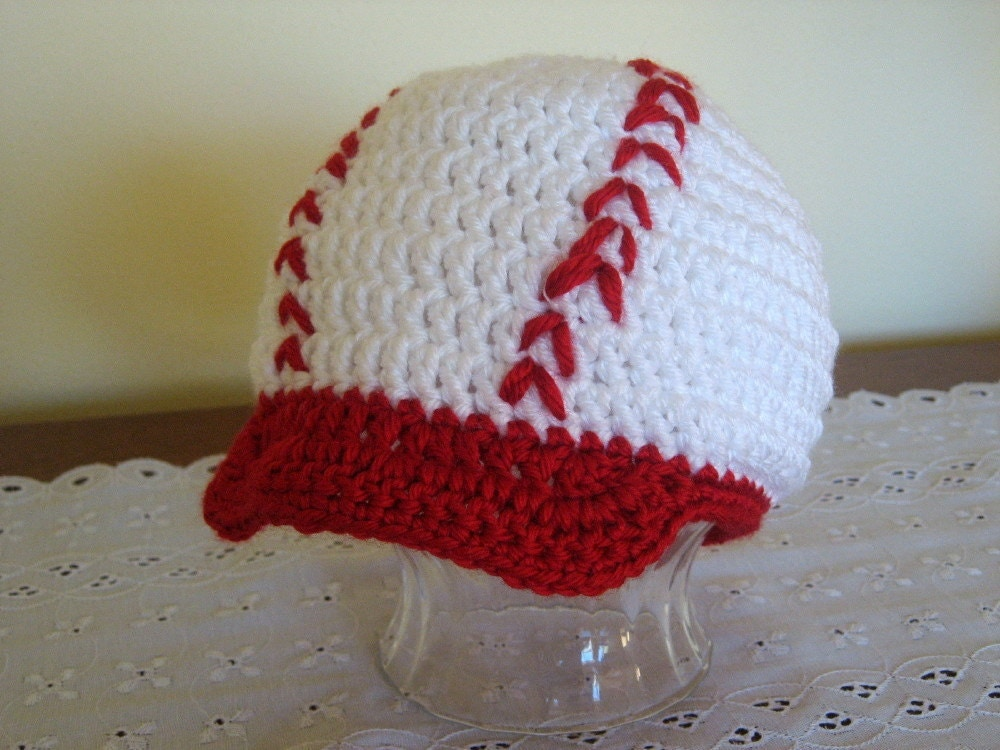 Free Crochet Pattern Newborn Baseball Cap : Crochet Baseball Hat 12-24 Months