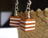 Earrings Cafe Latte, Handmade Resin Jewelry
