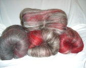 Amaretto - Reserved for Sterrocat  - 6.5 oz handblended batts (4 batts) incl. Spinning Services