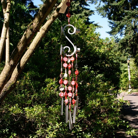 Coca cola bottle cap wind chime for Bottle cap wind chime