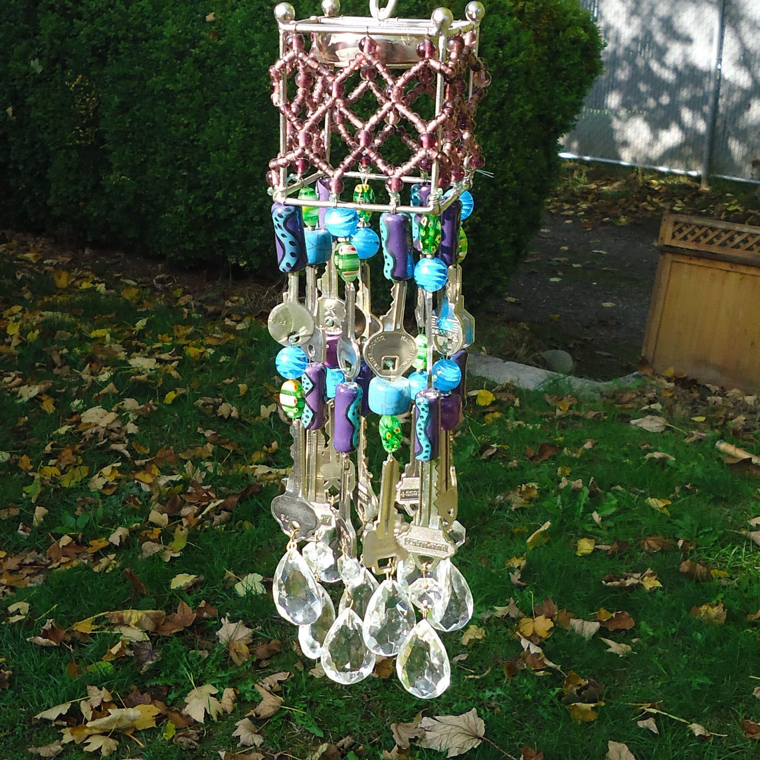 Crystal recycled wind chime for Wind chimes from recycled materials
