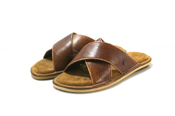 Brown SWELL Leather Sandals for Men & Women - Anatomic Soles