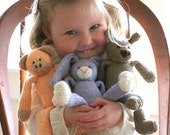 MADE TO ORDER - Hand Knit Organic Cotton Eco Friendly Stuffed Animal Toy - Classic Companion