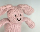 """Angora and Wool Rabbit - Cotton Candy - Hand Knit Toy Bunny, 12"""" tall"""