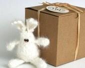 KIT - Itty Bitty Angora Bunny Rabbit - Just Add Needles