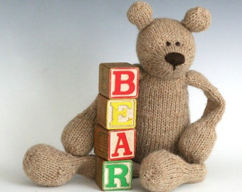 B is for Bear - PDF Knitting Pattern for a Stuffed Toy Teddy