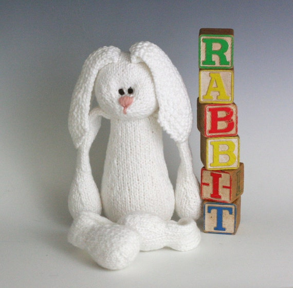 R is for Rabbit - PDF Knitting Pattern