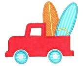 Machine Embroidery Design Truck with Surf Boards INSTANT DOWNLOAD