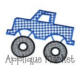 Machine Embroidery Design Applique Monster Truck INSTANT DOWNLOAD