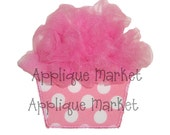 Machine Embroidery Design Applique Tulle Cupcake In the Hoop INSTANT DOWNLOAD
