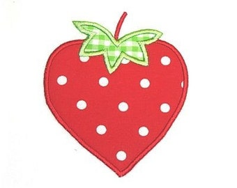 Machine Embroidery Design Strawberry INSTANT DOWNLOAD