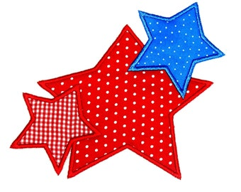 Machine Embroidery Design Star Trio INSTANT DOWNLOAD