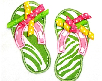 Machine Embroidery Design Flip Flops INSTANT DOWNLOAD