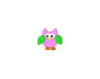 Machine Embroidery Design Owl Mini